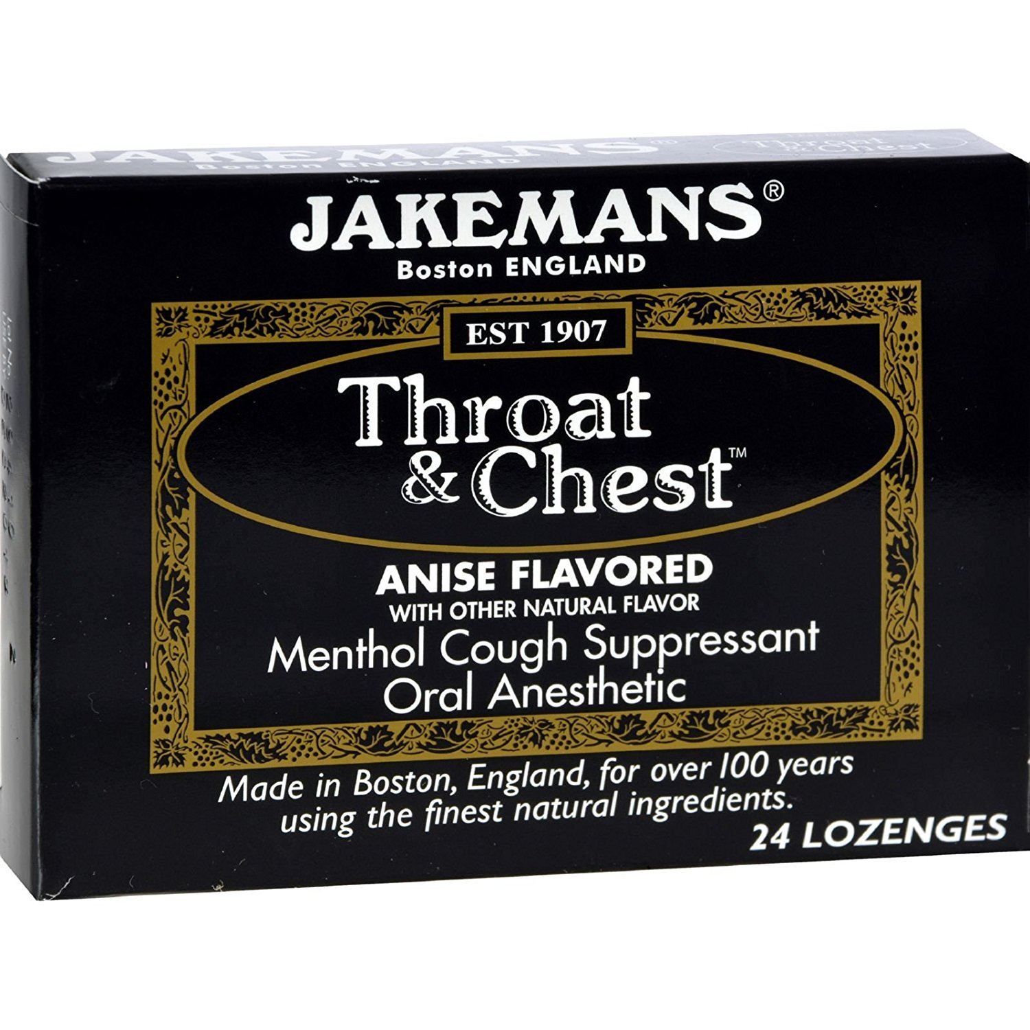2Pack! Jakemans Throat and Chest Lozenges - Anise - Case of 24 - 24 Pack