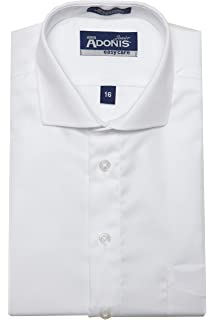 BCFT-7 ADONIS Boys 100/% Cotton Non Iron White Pinpoint French Cuff Dress Shirt