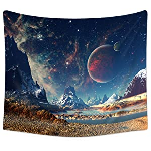 "Sunm Boutique Tapestry Wall Hanging Wall Tapestry Galaxy Tapestry Planet Tapestry Psychedelic Tapestry Vintage Tapestry Home Decor(51.2""x59.1"", Galaxy#2)"