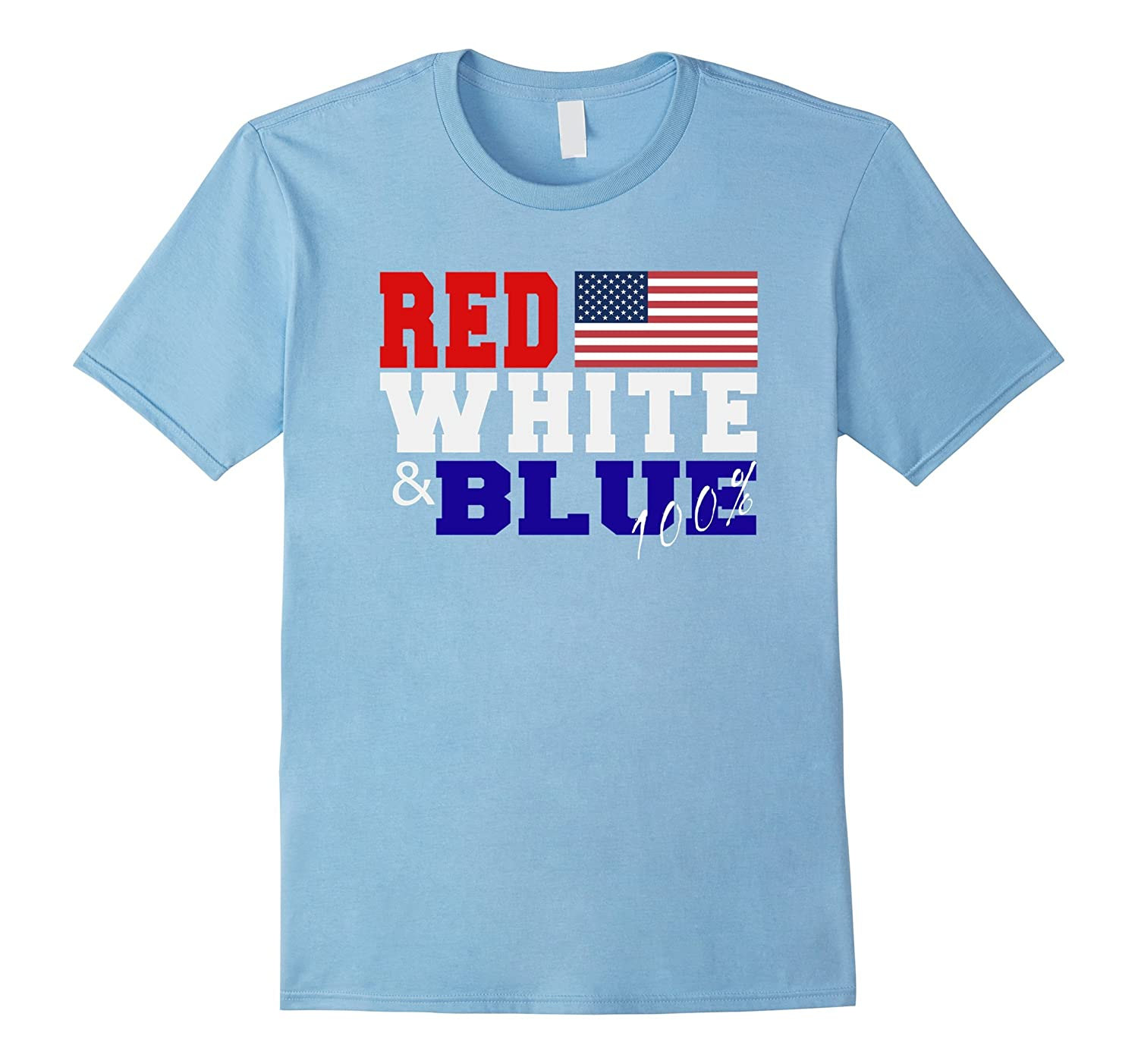 Red White and Blue 100% American Flag