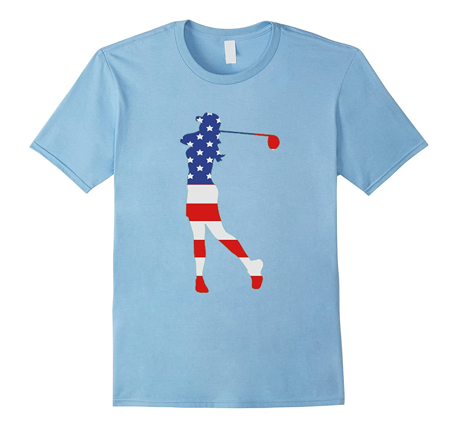 c9e7c736 Patriotic Golf female American flag Shirt for 4th of July ...