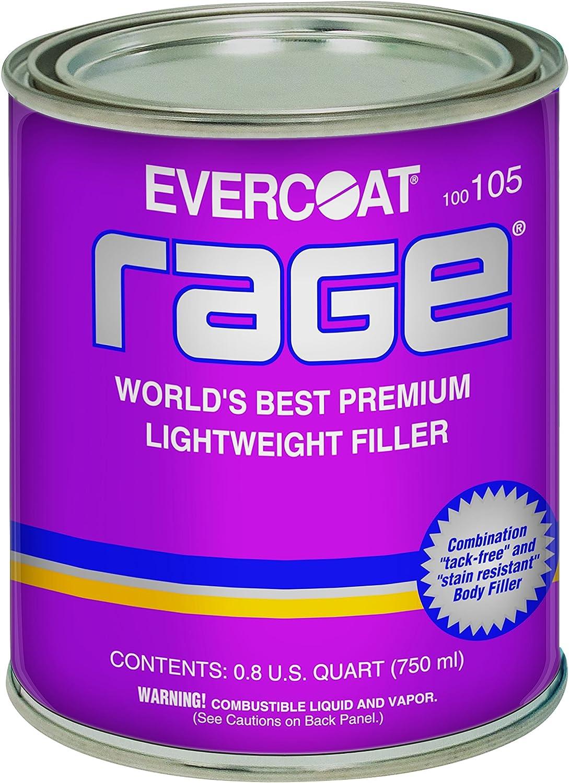 Evercoat 105 Rage Premium Lightweight Body Filler - 0.8 US Quart (750 ml)