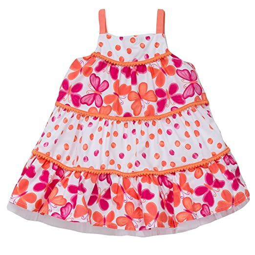 19bfa726cabf Little Me Toddler Girls Sundress Summer Casual Dress Coral Pink Butterfly 2T