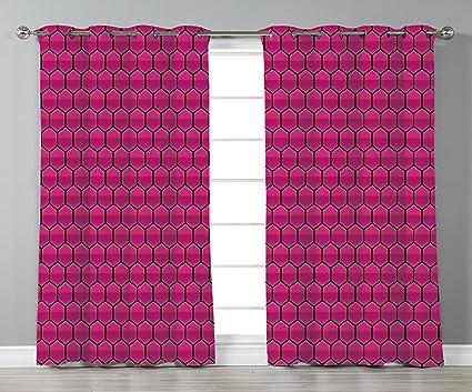 Amazon.com: Stylish Window Curtains,Hot Pink,Honeycomb ...