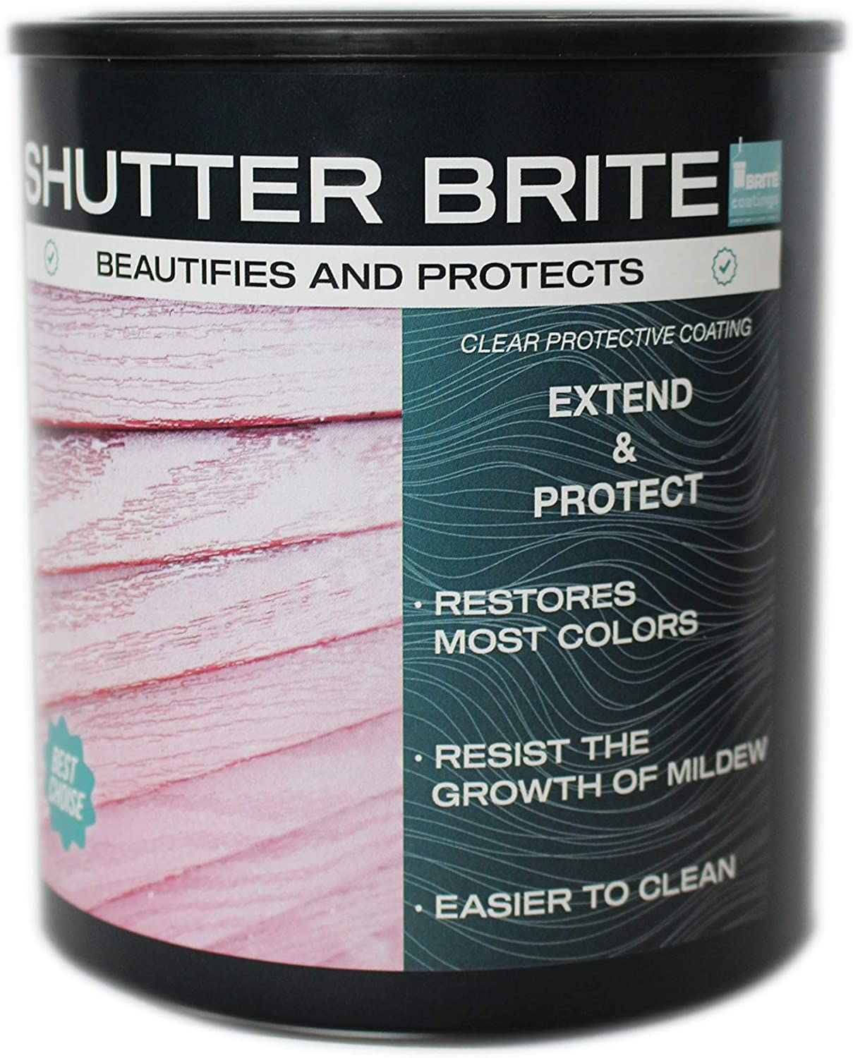 Shutter Brite Restore and Protect Faded Shutters Planters and virtually Any Outdoor Item. Mailboxes Lighting fixtures Patio Furniture