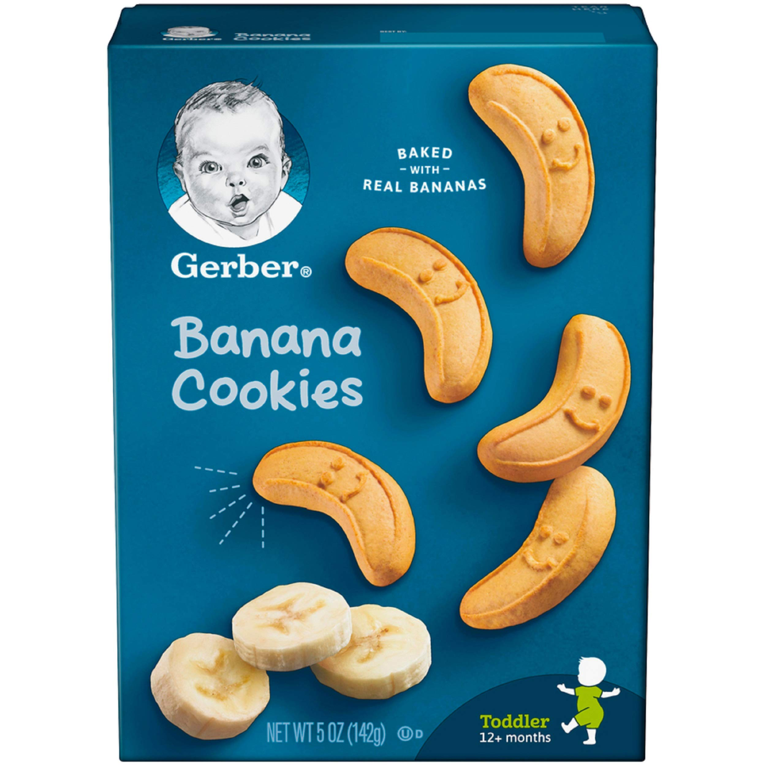 Gerber Graduates Cookies, Banana Cookies Boxes, 5 Ounce (Pack of 12) by GERBER