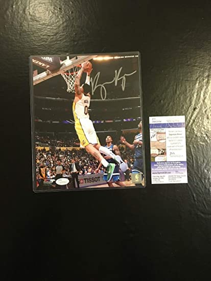 e5c52f7774d Kyle Kuzma Lakers Autographed Signed Memorabilia 8x10 Basketball Photo JSA  Certified #6 at Amazon's Sports Collectibles Store