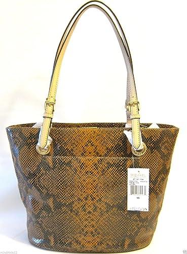 167d9519a Amazon.com: Michael Kors Jet Set Item Md Tote Leather Python Sand: Shoes
