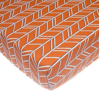 product image for Glenna Jean Happy Camper Fitted Sheet, Orange Print