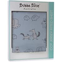 Bubba Blue 'Two By Two' Cot Jersey Fitted Sheet, blue, 77x135x19cm
