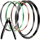 MoHern Bonsai Wire and Bonsai Tool Kit, Total 164 Feet Bonsai Tree Wire for Bonzai Trees Indoor, Size of 1-mm, 1.5-mm, 2…