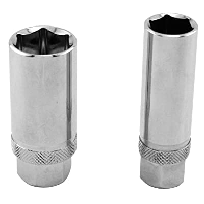GreatNeck 28020 Magnetic Spark Plug Socket Set, 2-Piece | Powerful Magnet Keeps Spark Plug Securely Seated During Removal and Install | Power & Precision – Won't Break Plugs | Rust Resistant: Home Improvement