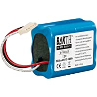 BAKTH 2200mAh 7.2V NiMH Akku echte Kapazität für iRobot Braava 380T, Braava 380, Braava 390T MINT Plus 5200, 5200C
