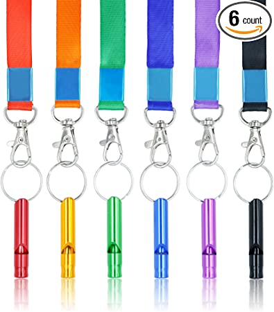 Outdoor Aluminum Alloy Emergency Survival Whistle Camping Hiking Tool AZ