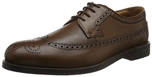 Clarks Coling Limit, Zapatos de Cordones Oxford para Hombre, Marrón (Tan Leather), 43 EU
