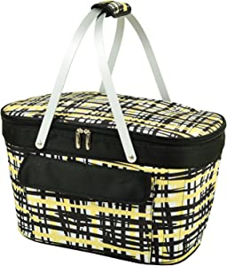 Picnic at Ascot Patented Insulated Folding Picnic Basket Cooler-Designed & Quality Approved in the USA