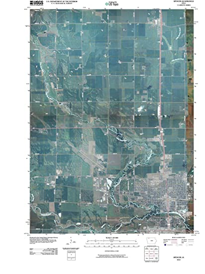 Amazon Com Iowa Maps 2010 Spencer Ia Usgs Historical Topographic