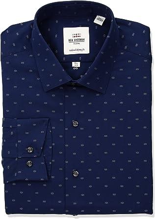 Ben Sherman 16.5 Navy 32-33 Kings Stretch Long Sleeves Button Up Stretch Shirt