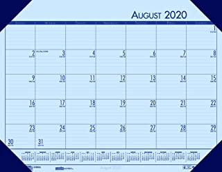 product image for House of Doolittle 2020-2021 Academic Desk Pad Calendar, EcoTones, Blue, 18.5 x 13 Inches, August - July (HOD012540-21)