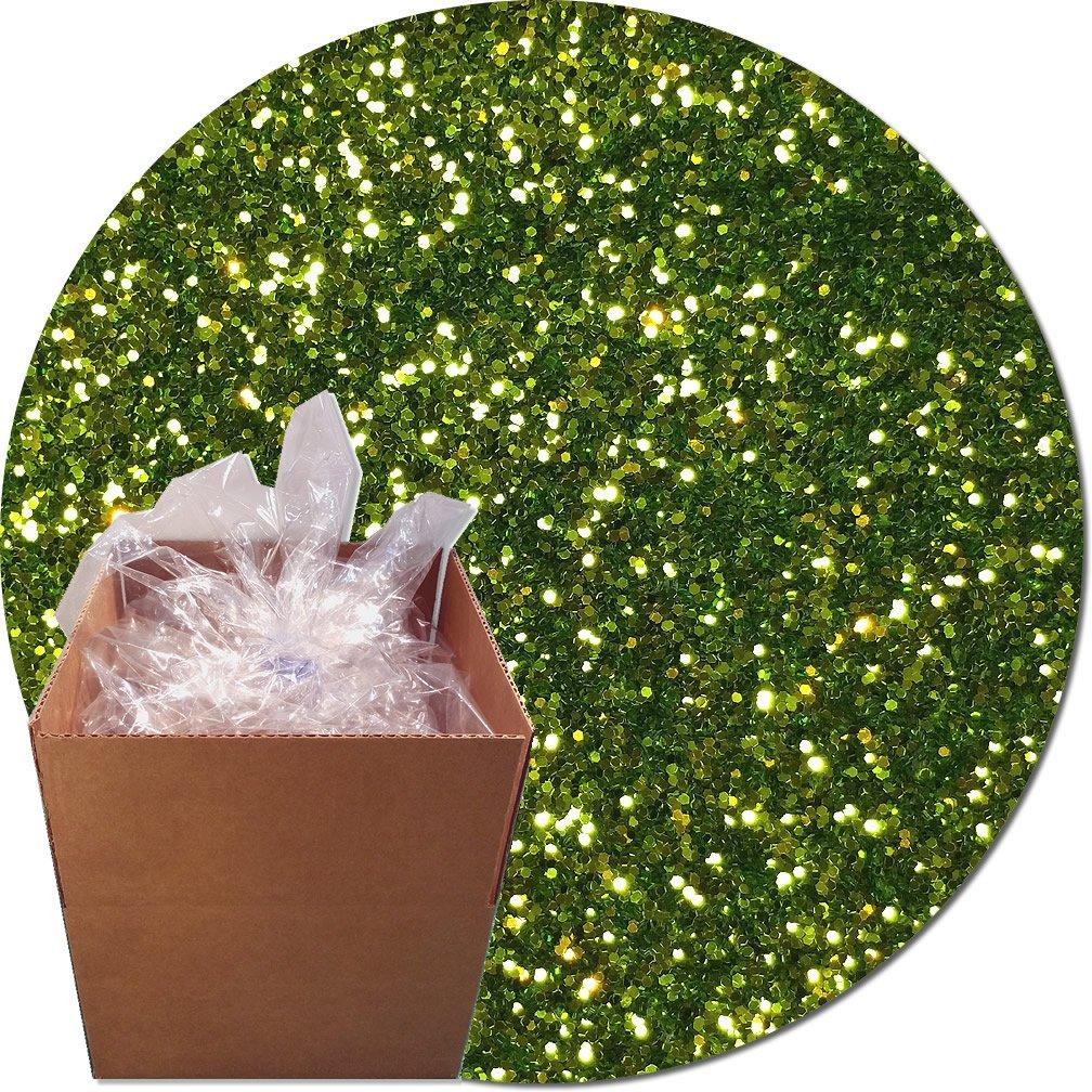 Glitter My World! Craft Glitter: 25lb Box: Lime Luster