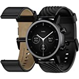 Moto 360 3rd Gen 2020 - Wear OS by Google - The Luxury Stainless Steel Smartwatch with Included Genuine Leather and High…