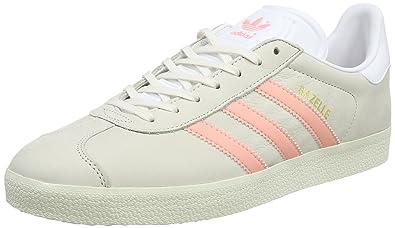 74f1e65ed9dd01 adidas Damen Gazelle Sneakers Grau (Chalk still Breeze Footwear White)