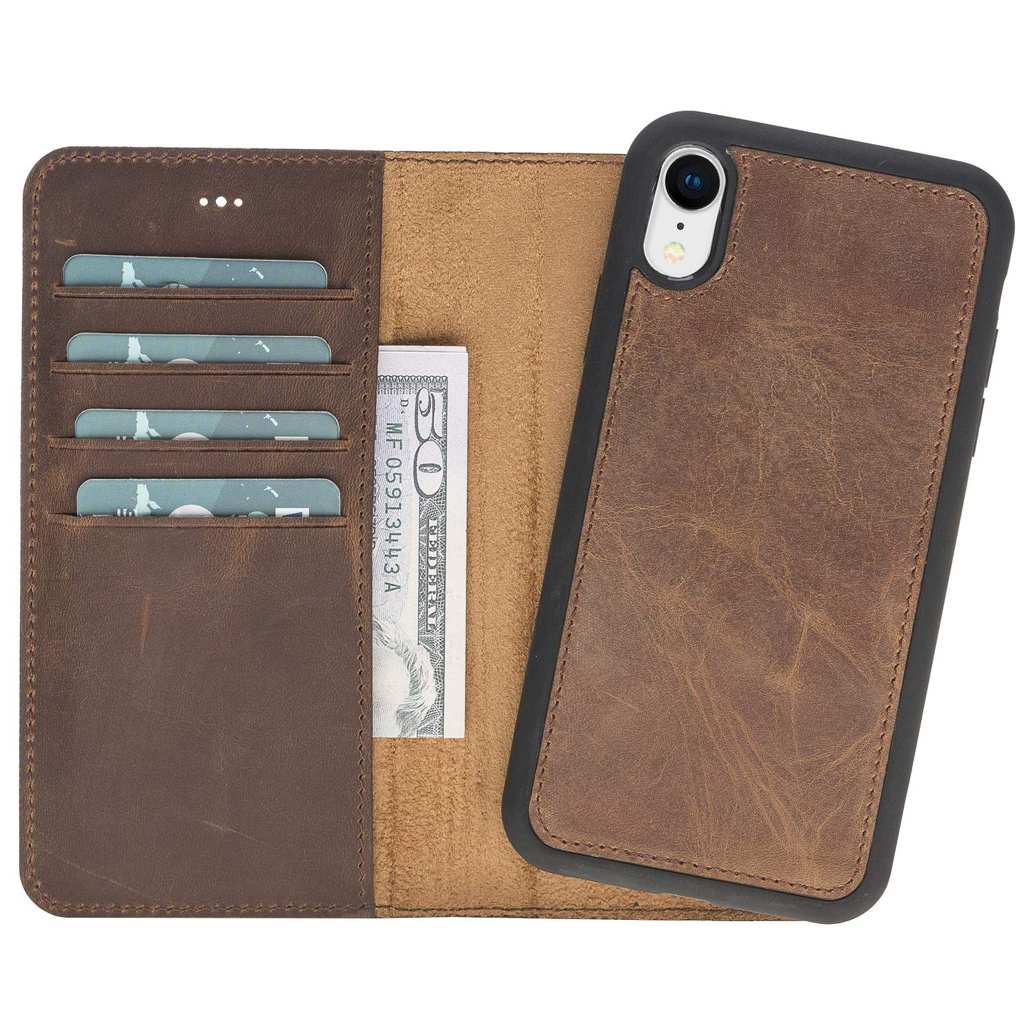 sports shoes 773aa 117ae Amazon.com: iPhone XR Wallet Case, Magnetic Detachable Leather Case ...