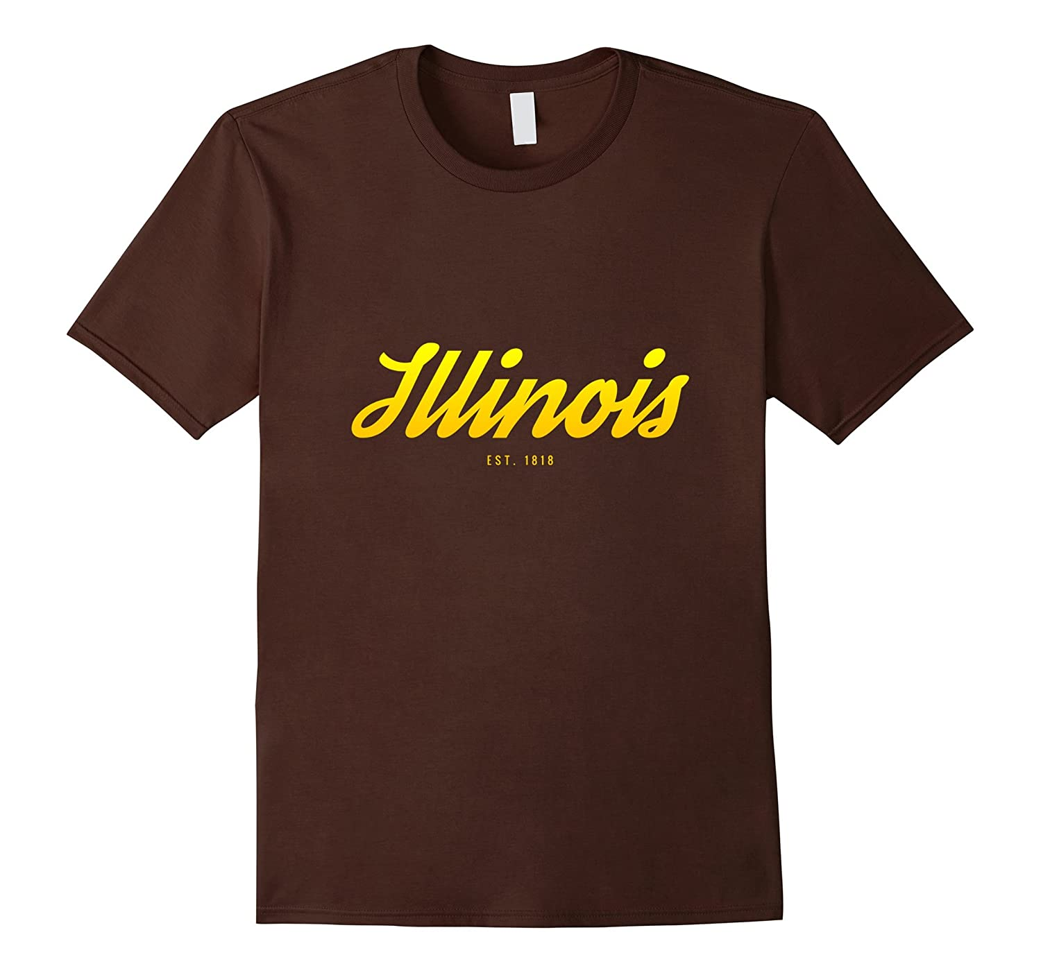 Illinois US State Est. Founded in 1818 tee shirt-T-Shirt
