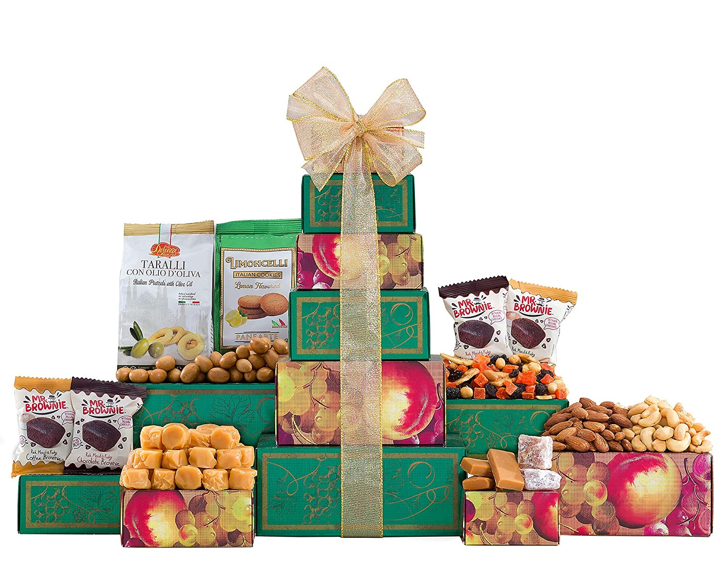 Gift Tower-Nuts, Brownies and Sweets Gift Tower by Wine Country Gift Baskets