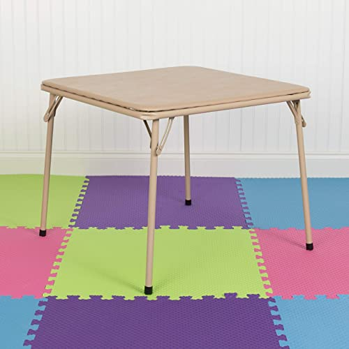 EMMA OLIVER Kids Tan Folding Game and Activity Table