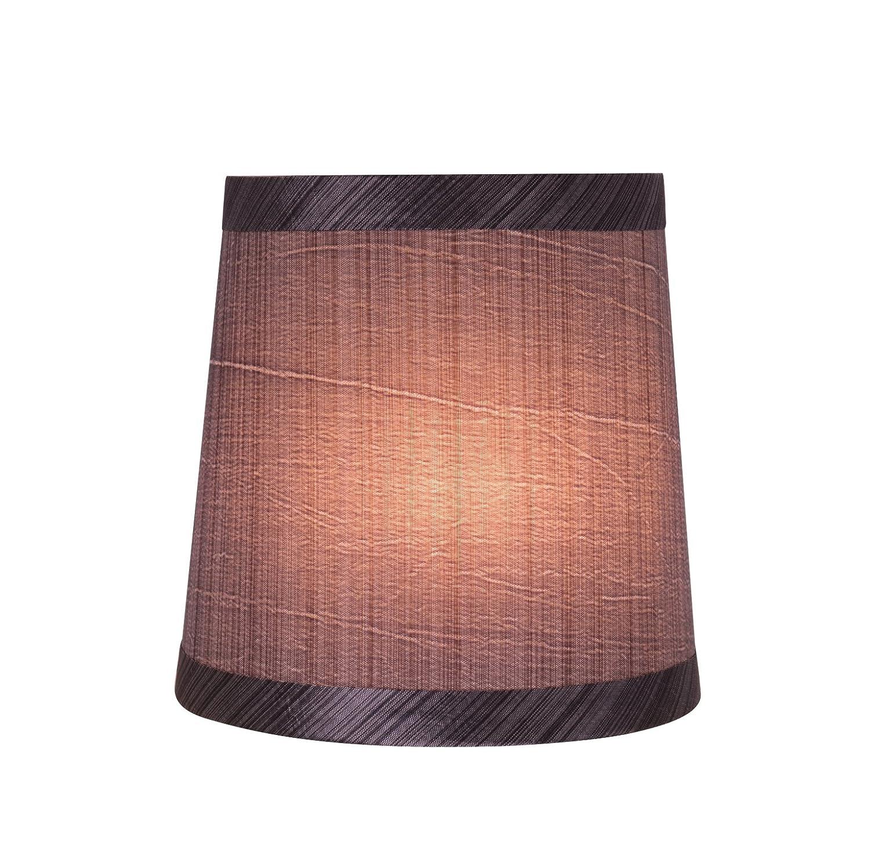 Aspen Creative 32831-9 Small Hardback Empire Shape Chandelier Clip-On Lamp Shade Set 4 x 5 x 5 5 Bottom Width 9 Pack Transitional Design in Grey /& Black