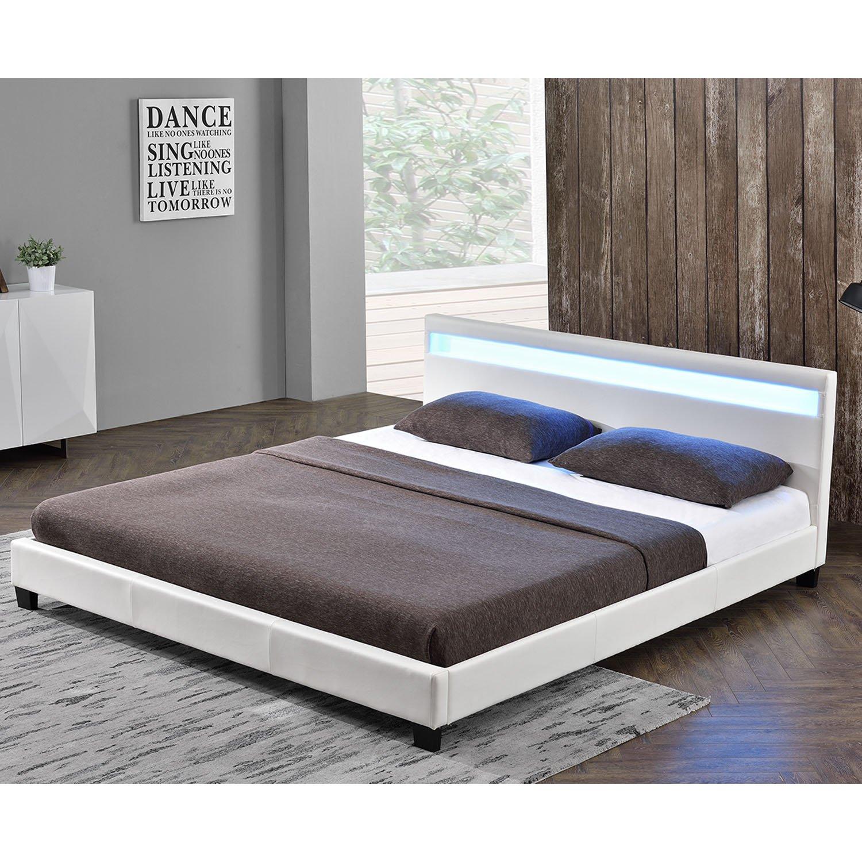 Doppelbett weiß  Polsterbett