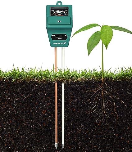 Basic Deal Soil Moisture and pH Meter, 3-in-1 Moisture Sensor Meter/Sunlight/pH Soil Test Kits Test Function for Home and Garden, Plants, Farm, Indoor/Outdoor Use (3-in-1 Soil pH Meter)