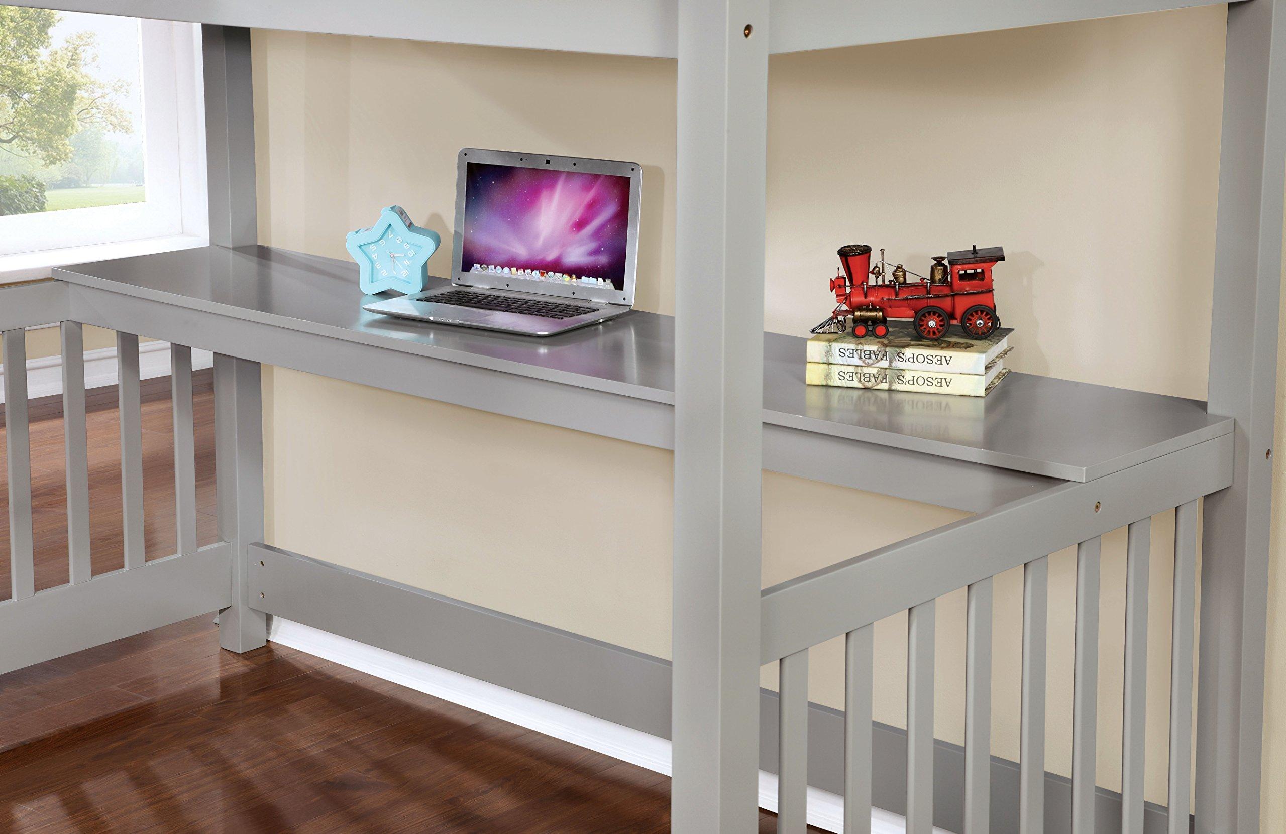 HOMES: Inside + Out IDF-BK614 Duncan Bunk Bed Childrens Frames, Twin/Twin by HOMES: Inside + Out (Image #1)