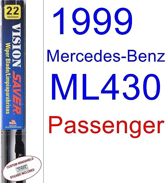 Amazon.com: 1999 Mercedes-Benz ML430 Wiper Blade (Rear) (Saver Automotive Products-Vision Saver): Automotive