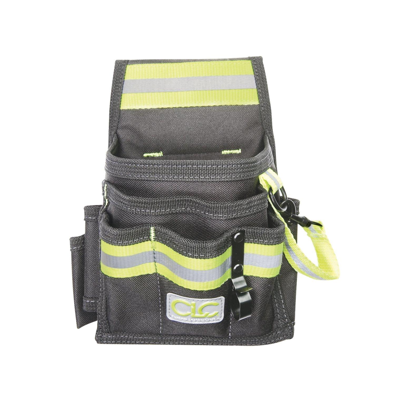 Custom Leathercraft 141503 Hi-Viz 9-Pocket Electrical & Maintenance Pouch by Custom Leathercraft