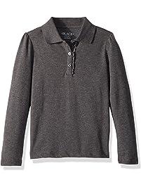 268b99ee The Children's Place Big Girls' Long Sleeve Ruffle Polo Shirt