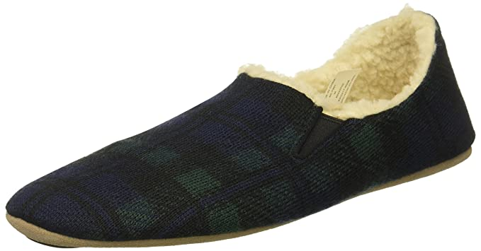 7ac4a0bc225ea Mens Black Watch Plaid Nomad Slippers, By Pendleton