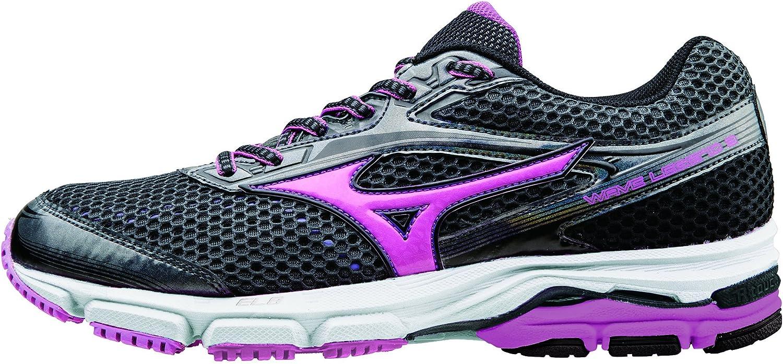 Mizuno Zapatos Mujer Running Oficial 2015/2016 Wave Legend 2 WOS J1GD151064 Gris oscuro Rosa Púrpura Tamano 39: Amazon.es: Zapatos y complementos