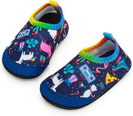 New Kids childrens Boys Girls Slip On Water Shoes//Aqua Socks//Pool Beach,6 Colors