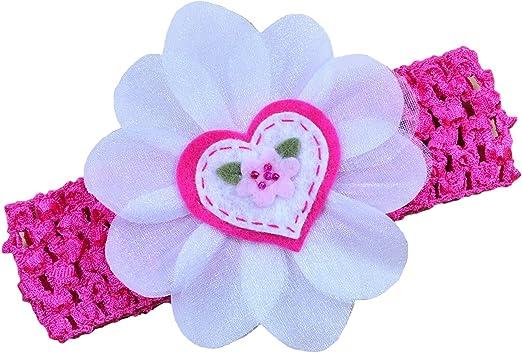 Baby Headband Infant Headband,Headband Valentines Hair Bow Valentines Day Headband Nylon Headband Pink Heart Headband Newborn Headband
