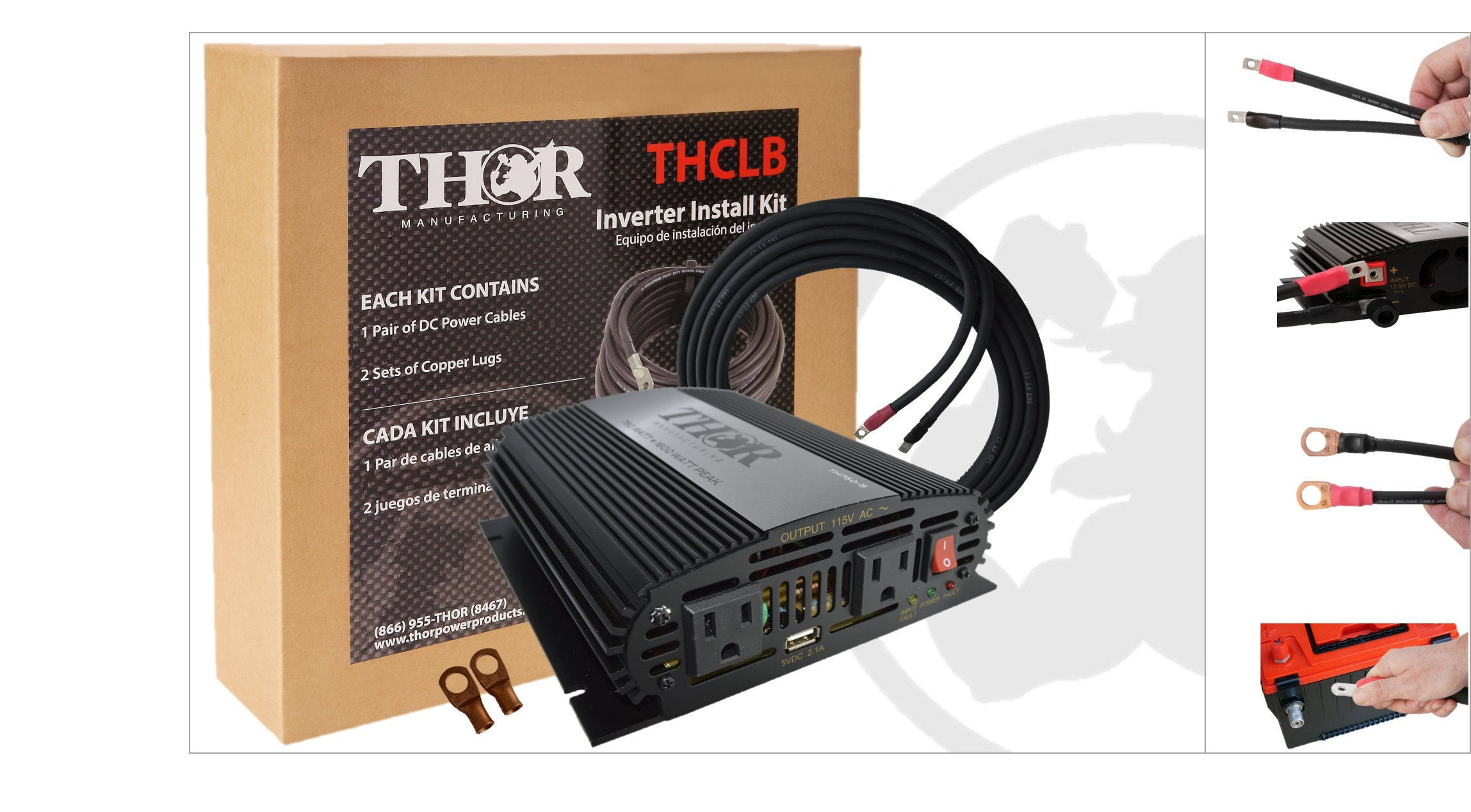 THOR Manufacturing TH750-S KIT1 Professional Grade Inverter Install Kits