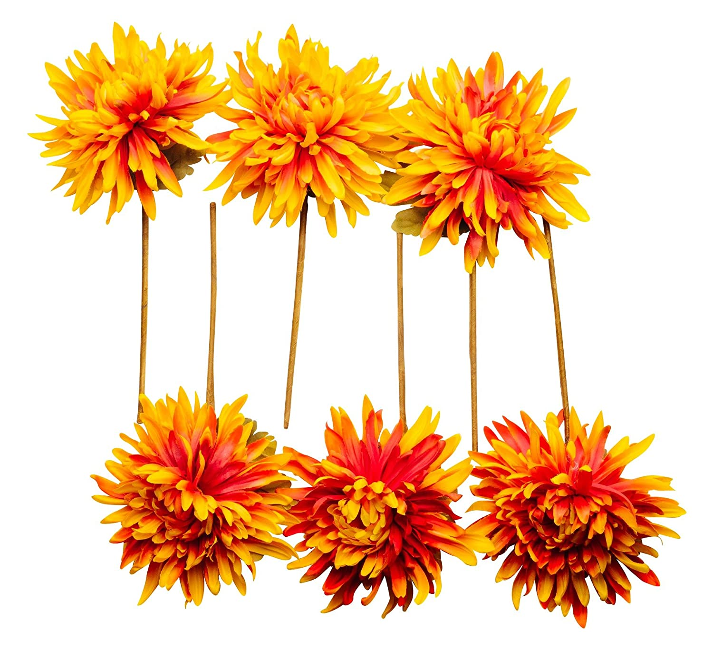 Set of 6 CraftMore Chrysanthemum Pick
