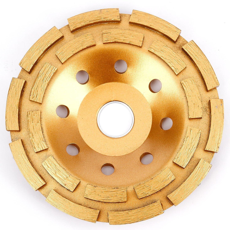 Heavy Duty Concrete Grinding Diamond Disc Double Row 115mm 5' Yellow Surepromise