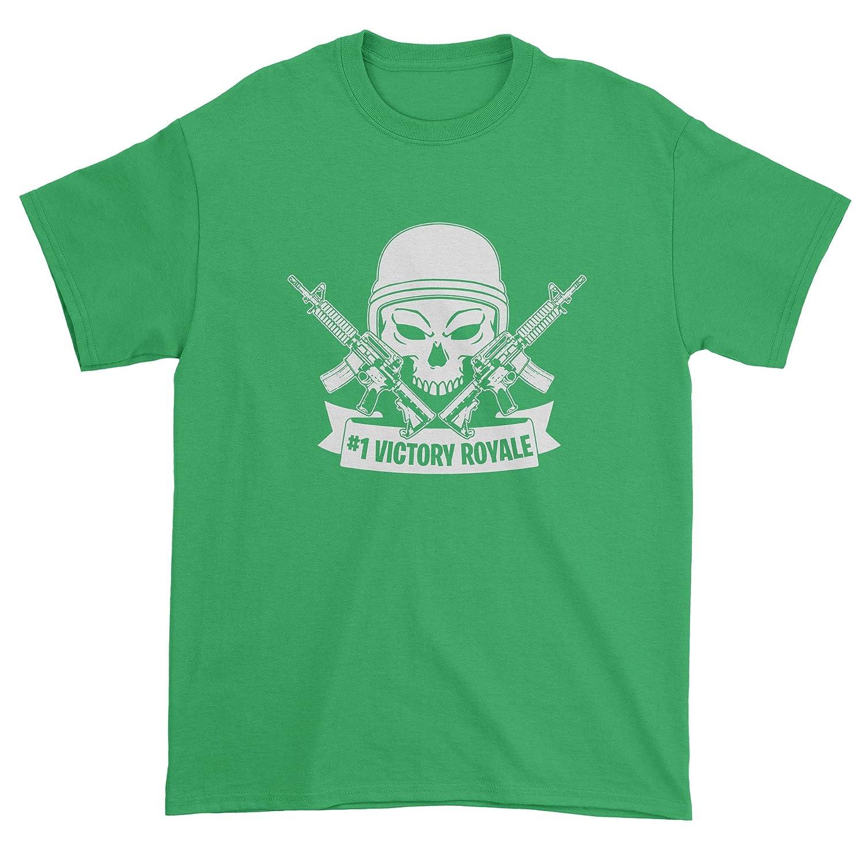 FerociTees #1 Victory Royale Fortnight Tattoo Fort Mens T-shirt 3137-M