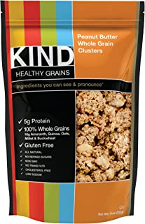 product image for KIND Healthy Grains Clusters, Peanut Butter Whole Grain Granola, 10g Protein, Gluten Free, Non GMO, 11 Ounce (Pack of 3)
