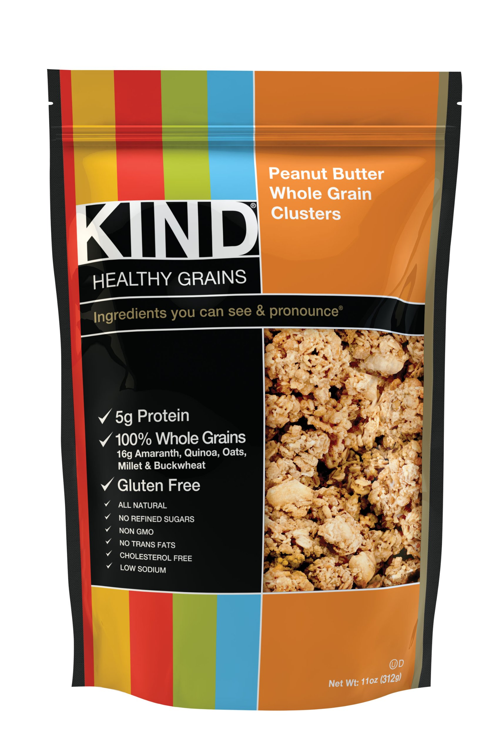 KIND Healthy Grains Clusters, Peanut Butter Whole Grain Granola, 10g Protein, Gluten Free, Non GMO, 11 Ounce Bags, 3 Count by KIND