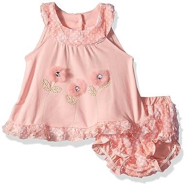 9dade451142c Amazon.com: Little Lass Baby Girls' 2 Pc Rose Diaper Set: Clothing