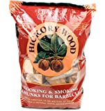 Charcoal Companion Hickory Cooking and Smoking Wood Chunks, 1/5-Cubic Foot (5.60L)