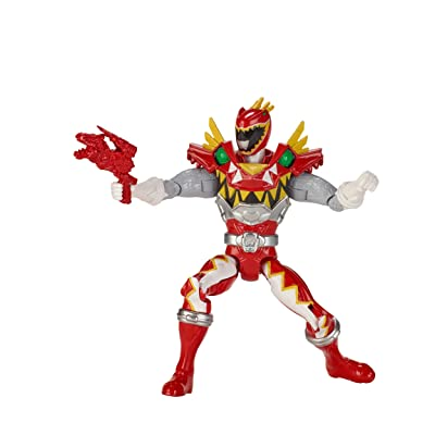 "Power Rangers Dino Super Charge - 5"" T-Rex Super Charge Red Ranger Action Figure: Toys & Games"